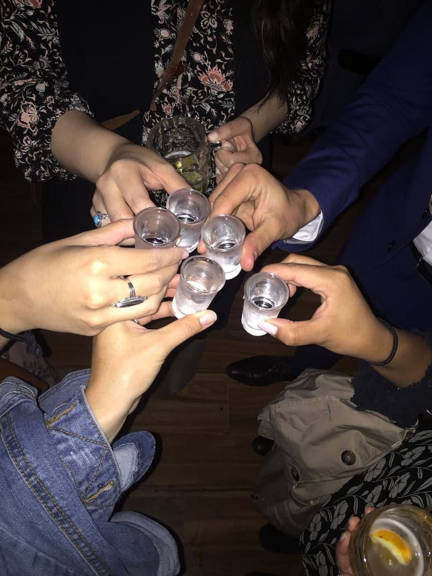 Shots can be enjoyed in Reykjavik, so long as you are over 20.
