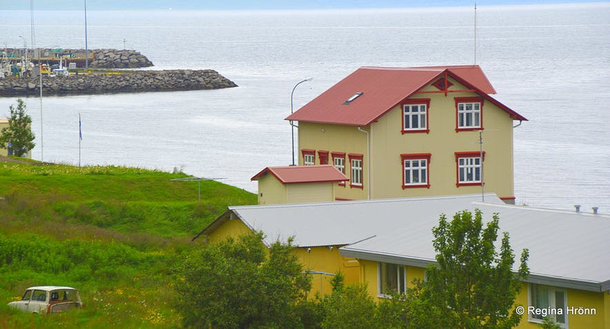 Súðavík village in Álftafjörður in the Westfjords of Iceland
