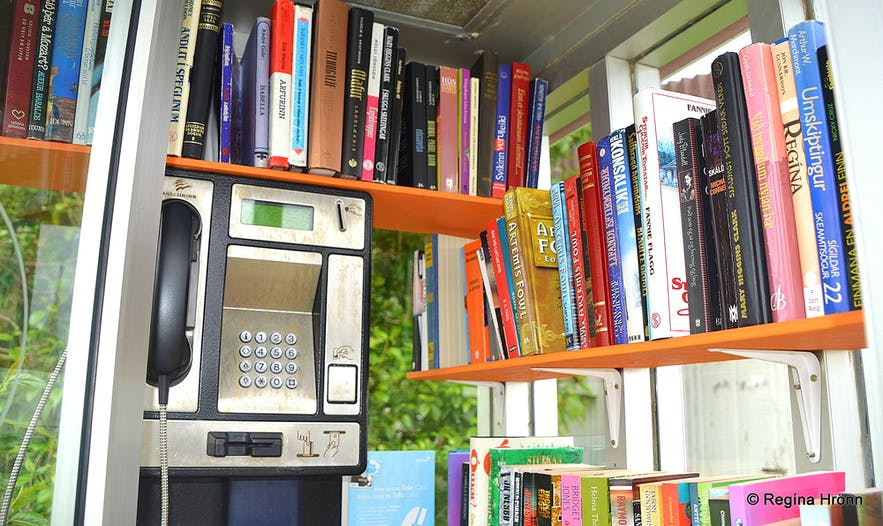The little library at Súðavík Westfjords of Iceland