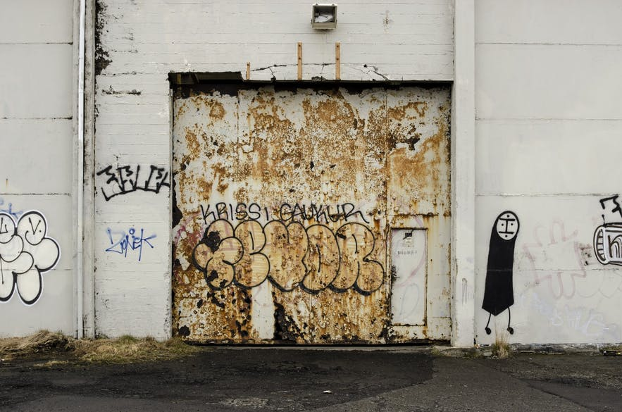 Not all of the graffiti in Reykjavik is sanctioned... or good.