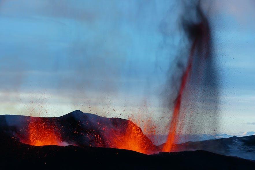 Eyjafjallajokull erupts in 2010.