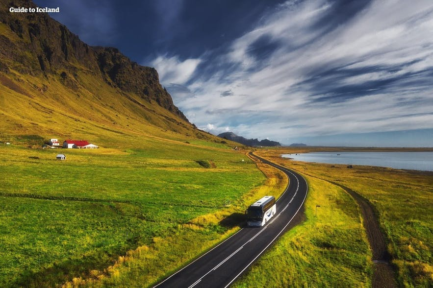 City buses can be used to reach quite a distance from Reykjavik.