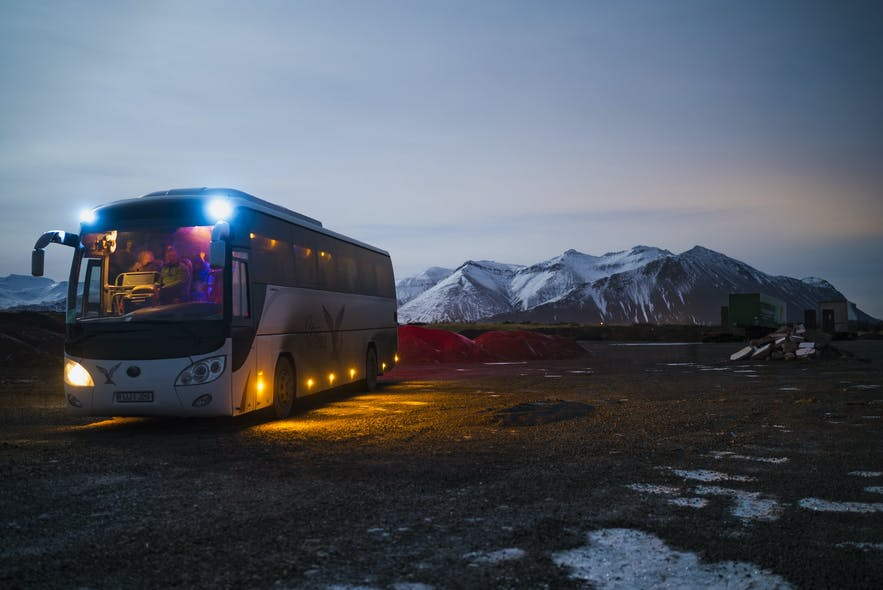 Buses can be tracked in Iceland via an app.