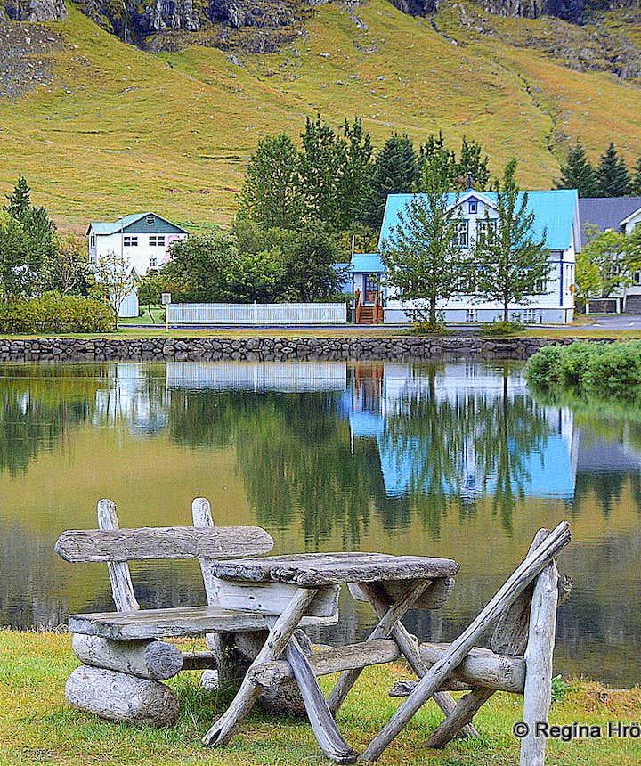 Seyðisfjörður and the blue church East-Iceland