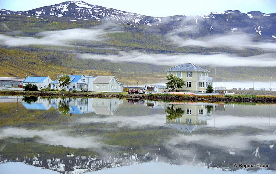 Seyðisfjörður village in East-Iceland