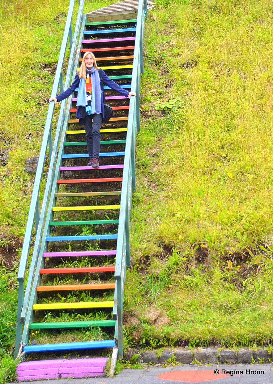 The rainbow stairs in Vestmannaeyjar South-Iceland