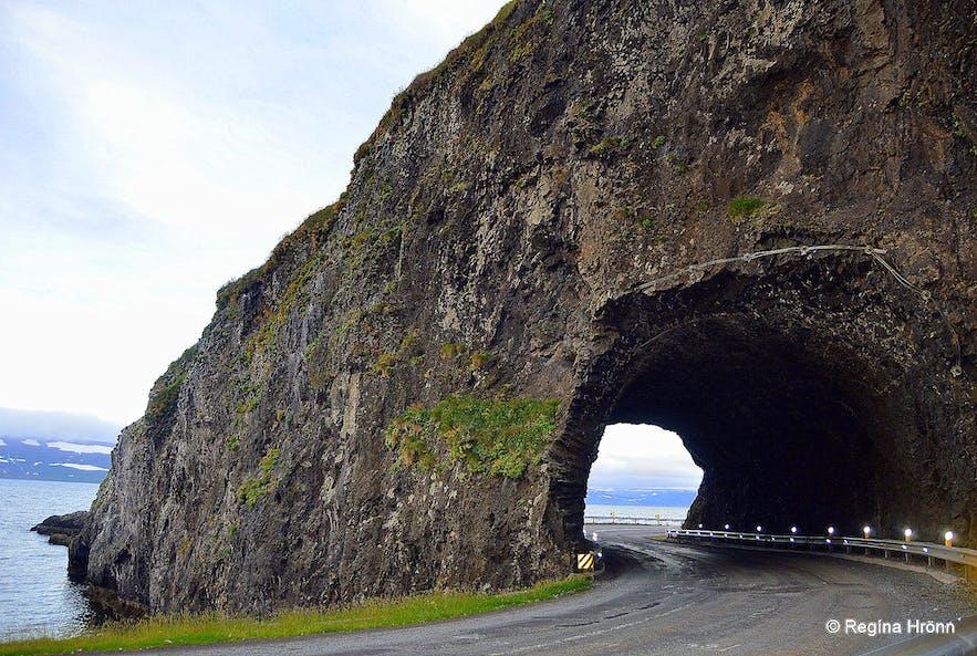 Arnarneshamar, Iceland's oldest tunnel in the Westfjords