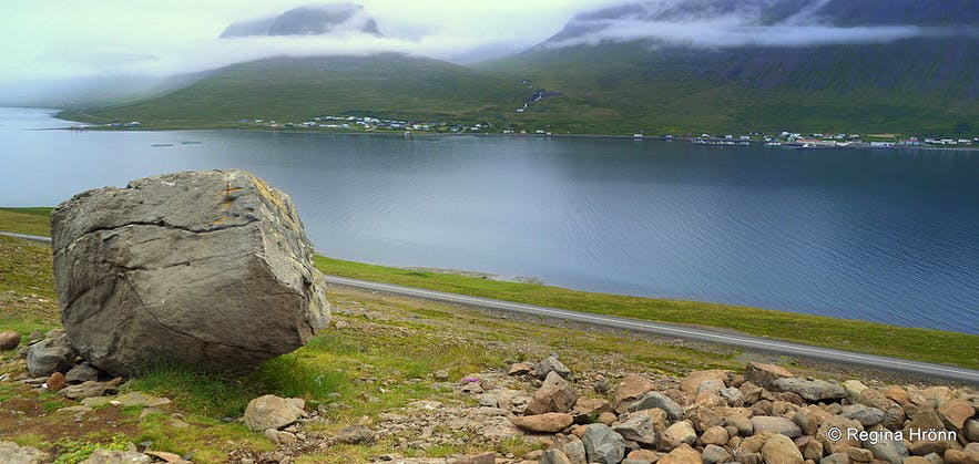 The view-point at Kambsnes in the Westfjords of Iceland