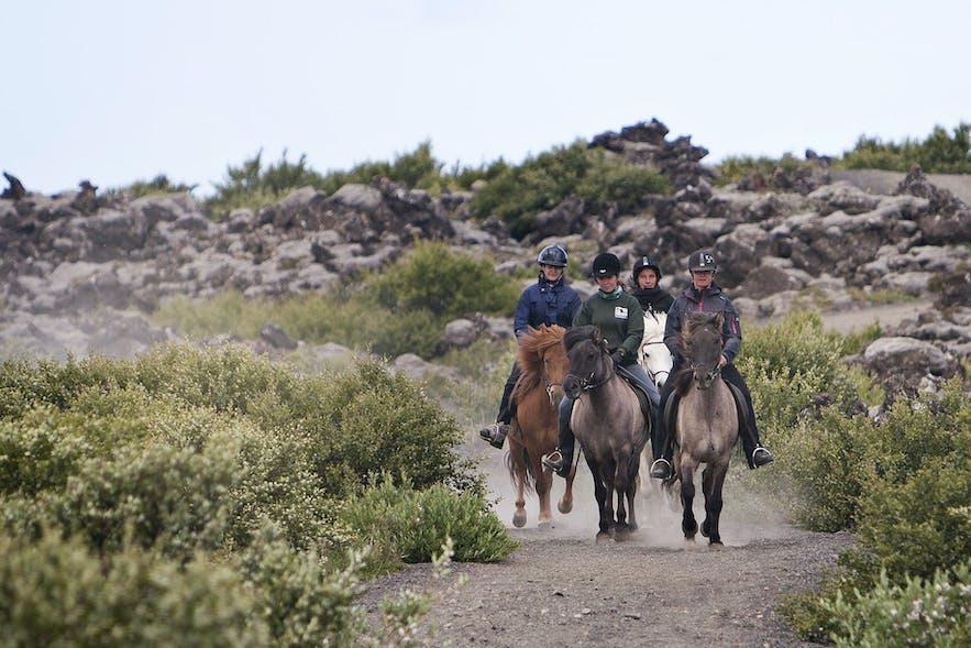 Horseback riding is popular in Heidmork.