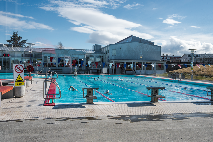 Vesturbæjarlaug is located centrally in Reykjavík