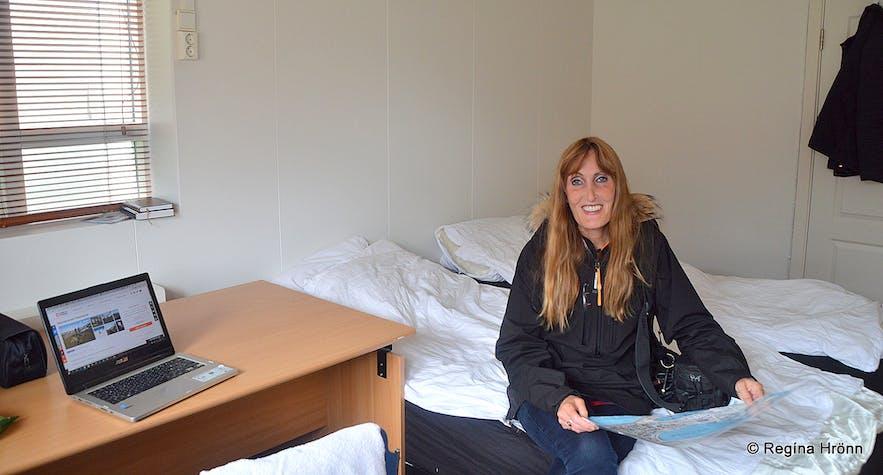 Regína at the Salvation Army in Ísafjörður