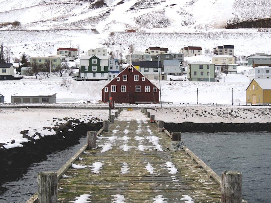 The view of Siglufjörður town.