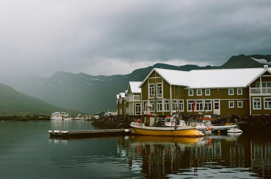 The coastal views of Siglufjordur are beautiful.