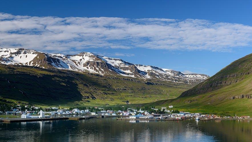 Seydisfjörður is in east Iceland, and a beautiful town.