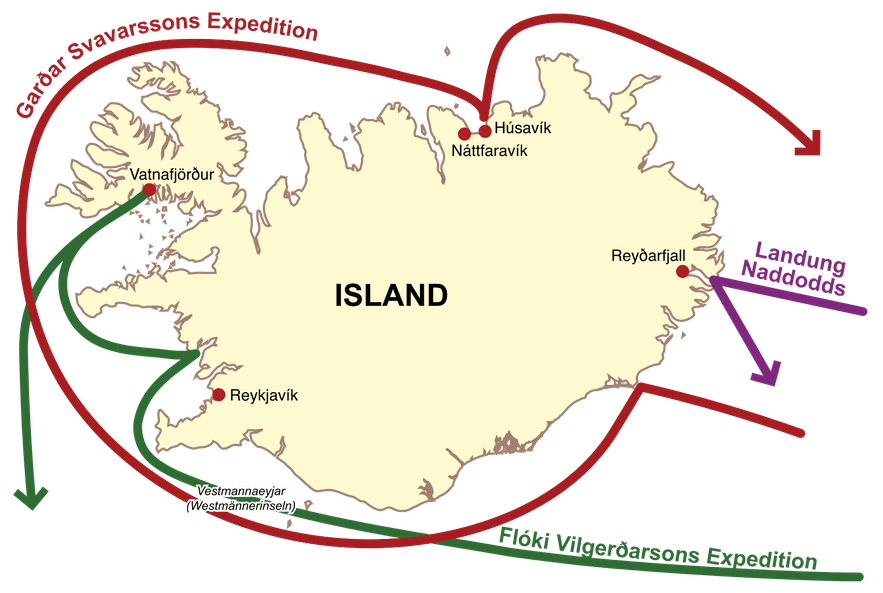Settling Iceland began with the adventures of three explorers.