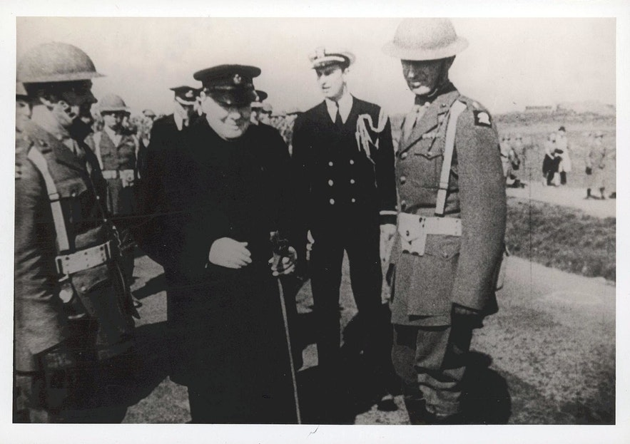 Churchill visits Iceland.