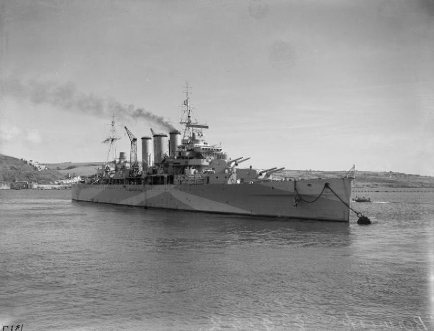 The HMS Berwick was a ship that ferried Allied troops to Iceland in its defence.