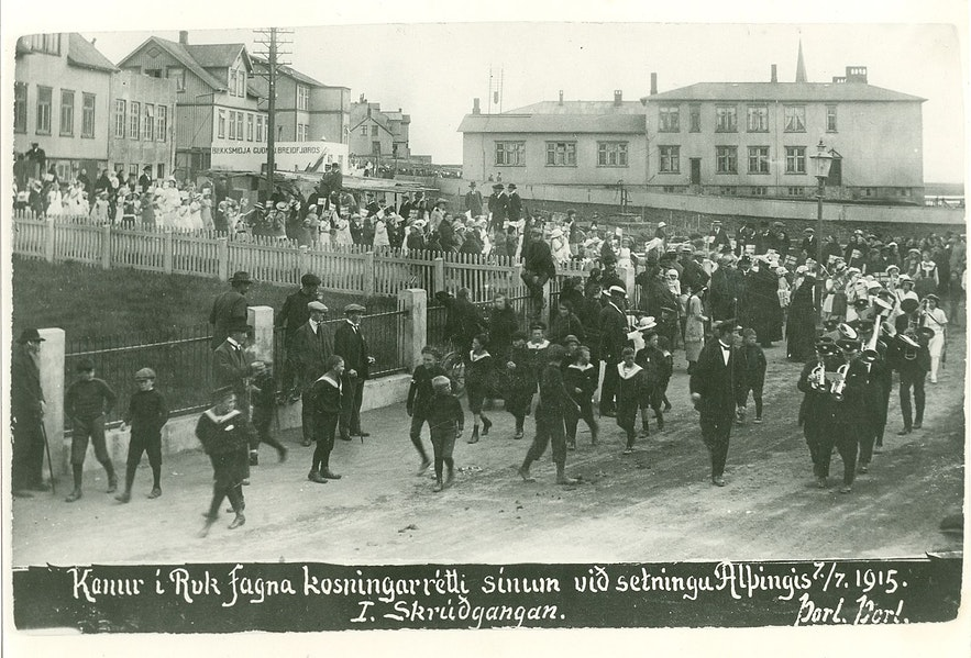Reykjavik celebrates women's suffrage.