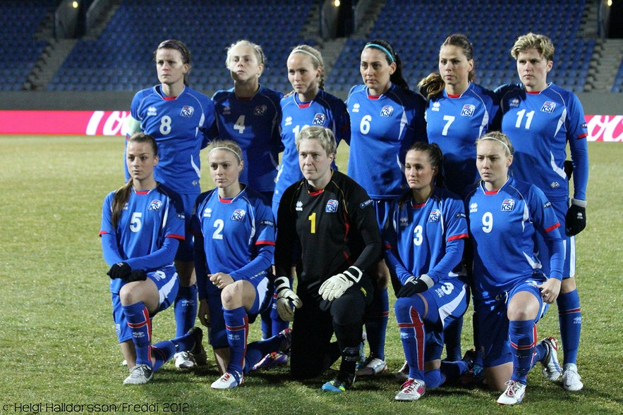 The Icelandic women's national football team is very successful