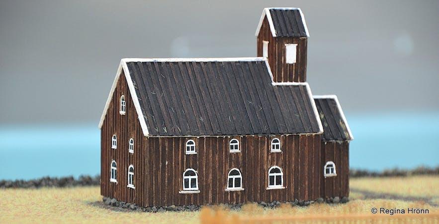 Church model from Ísafjörður town in 1866