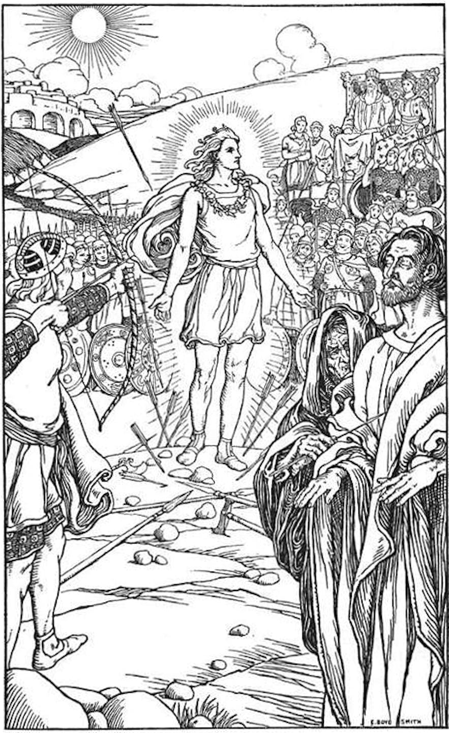 Baldr, one of the sons of Odin.