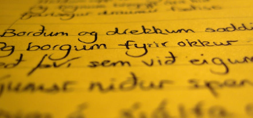 Icelandic letters are largely the same as the Roman alphabet.