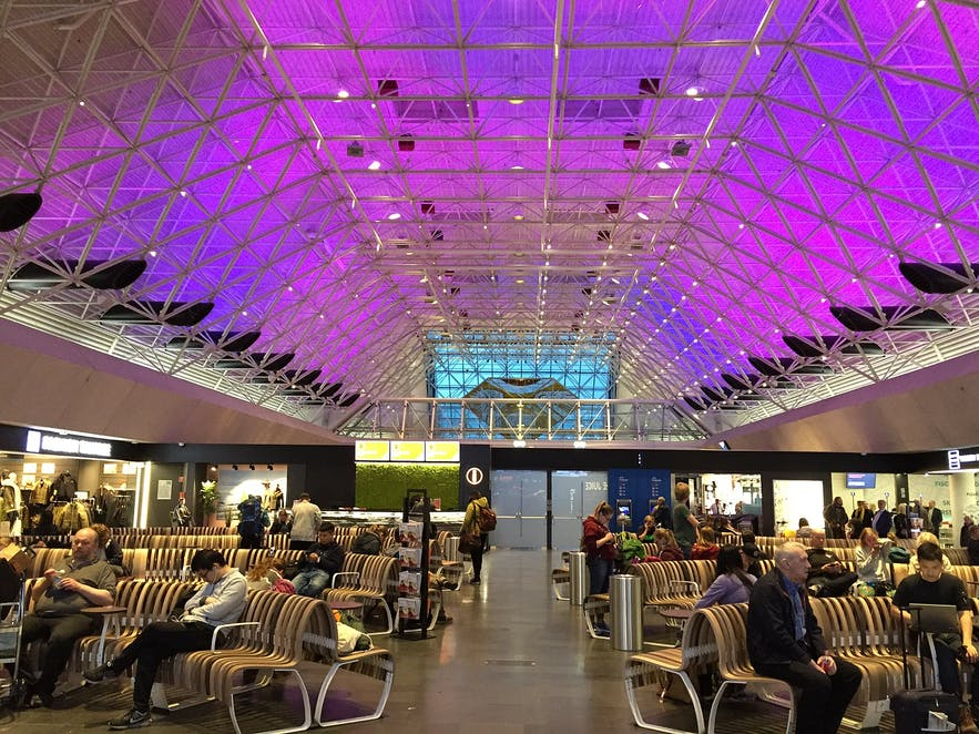 The interior of Keflavik airport.