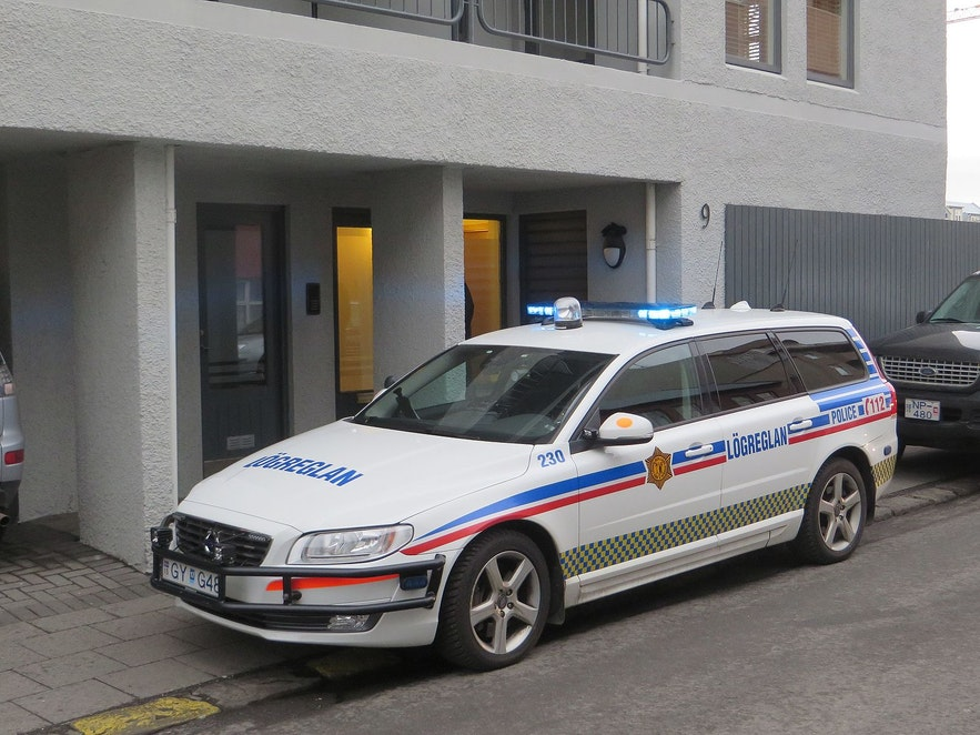 An Icelandic police car.