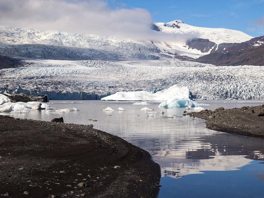 Fjallsarlon is a glacier lagoon in Iceland.