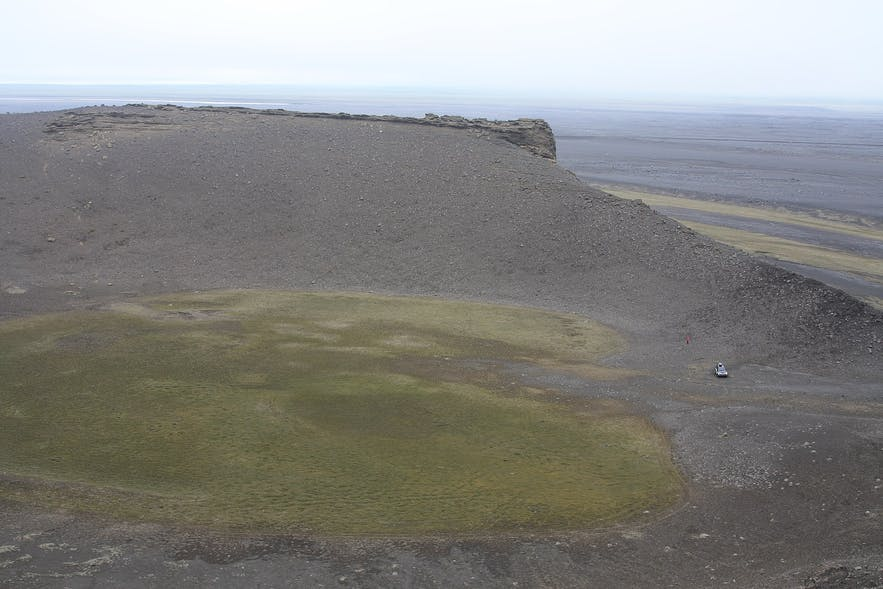 Hrossaborg crater is a shooting location in Iceland.