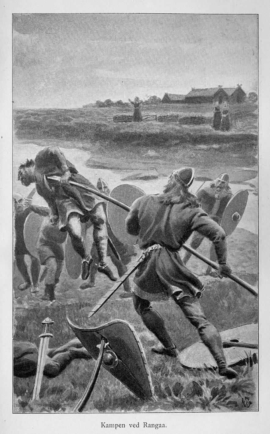 Men fight to the death over Hallgerdur.