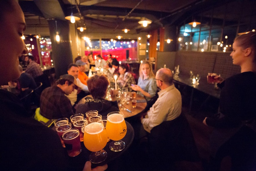 The bars in downtown Reykjavík serve good beer.