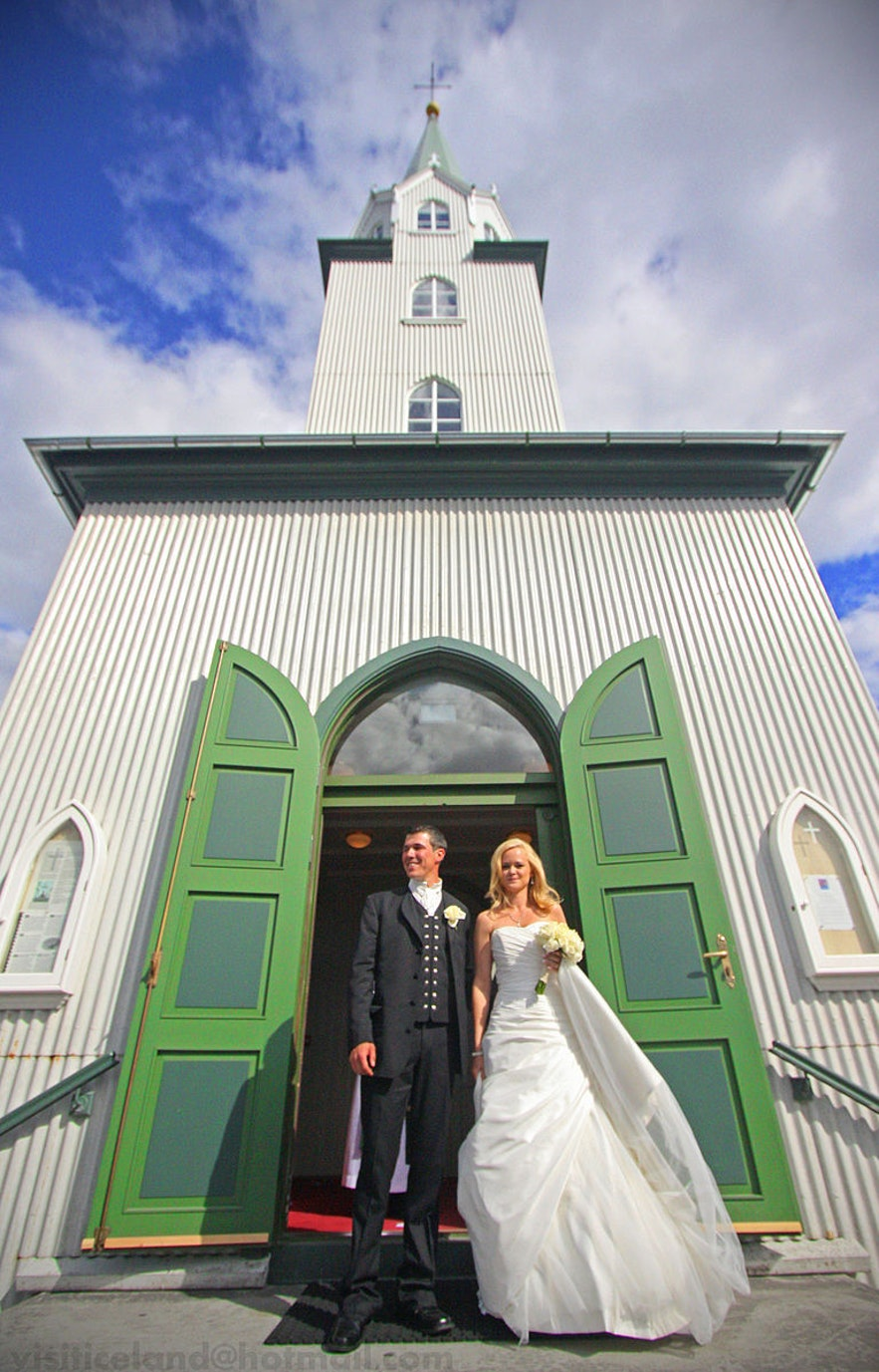 Icelandic summer weddings can be mild and sunny