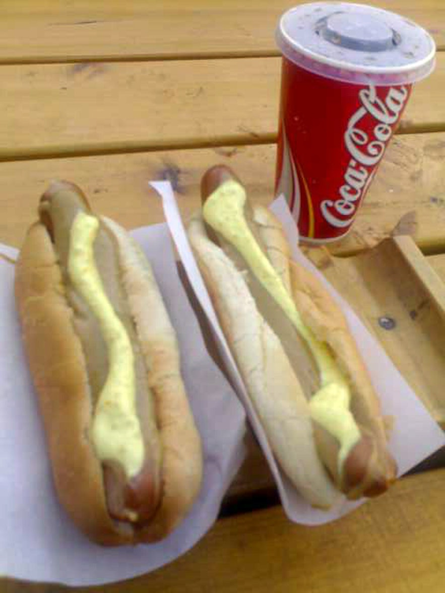 Hot dogs covered in Icelandic sauce.