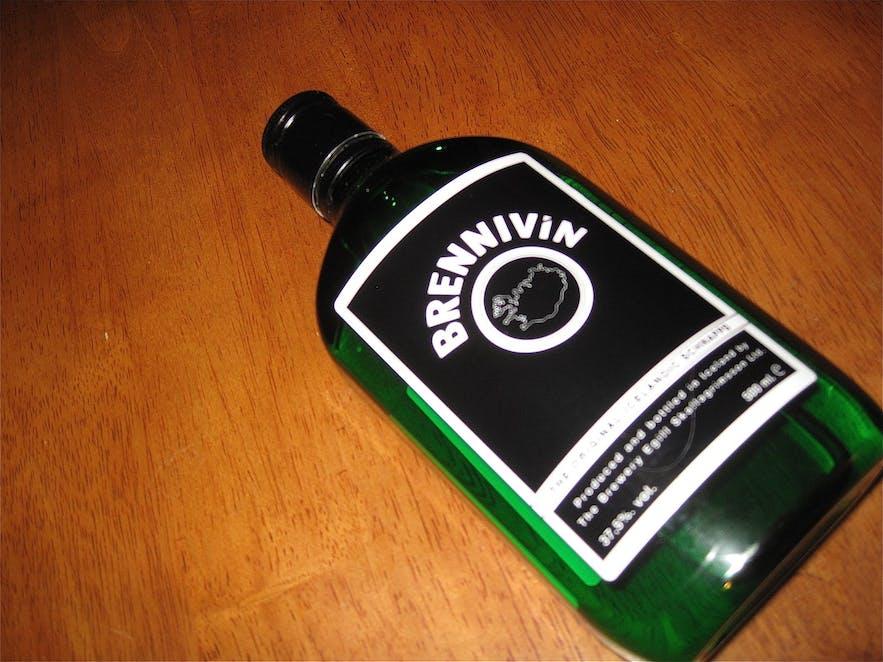 Brennivín - Black Death - is the main liquor of Iceland.