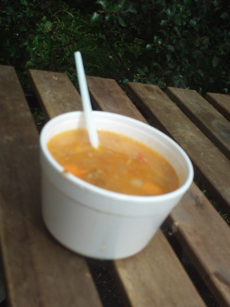 Icelandic meatsoup is a common dish.