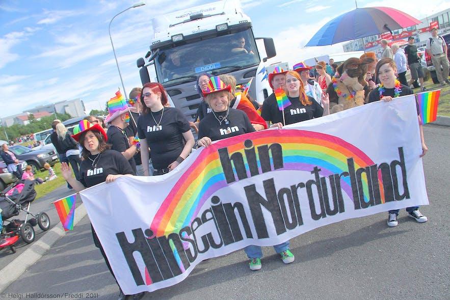 A pride parade in Reykjavik.