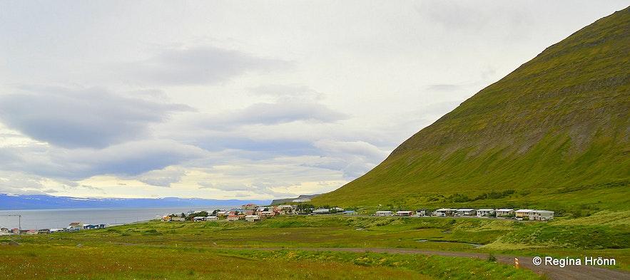 Hnífsdalur village in the Westfjords of Iceland