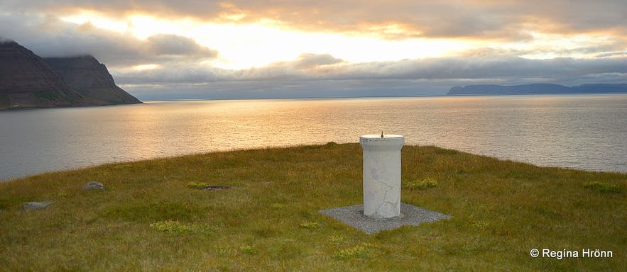 The view of Skutulsfjörður from Arnarnes