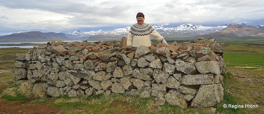 On top of Mt. Helgafell Snæfellsnes