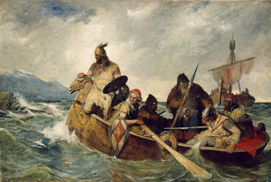 Early settlers reach the shores of Iceland.