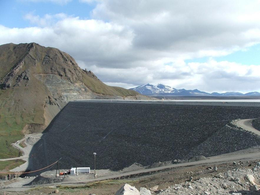 The Karahnjukur Dam in Iceland.