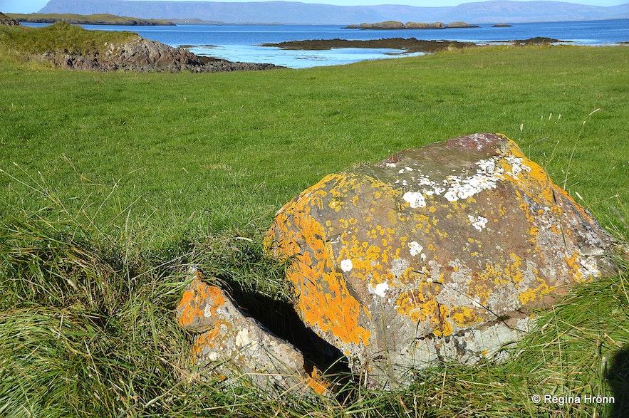Þórssteinn rock at Þórsnes Þingvellir Snæfellsnes