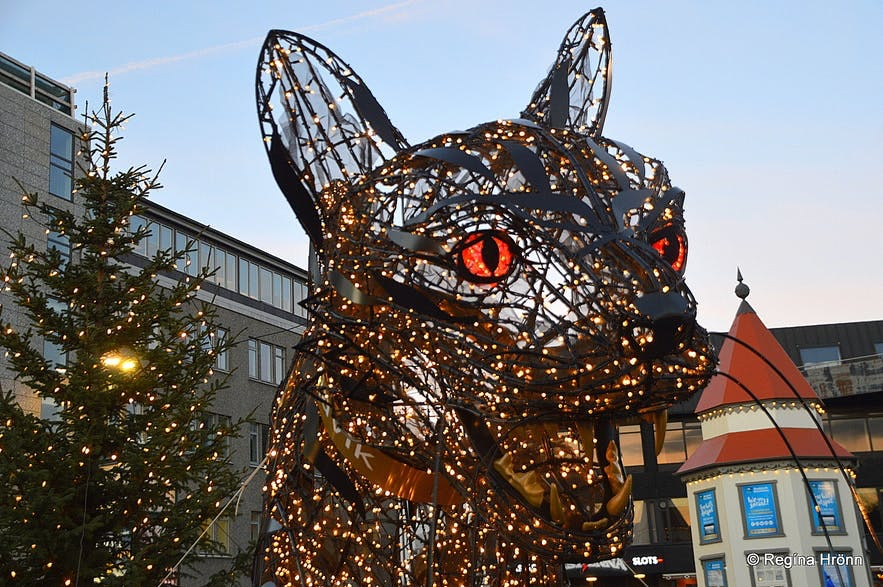 Grýla has a Christmas Cat for terrorising kids in Iceland.