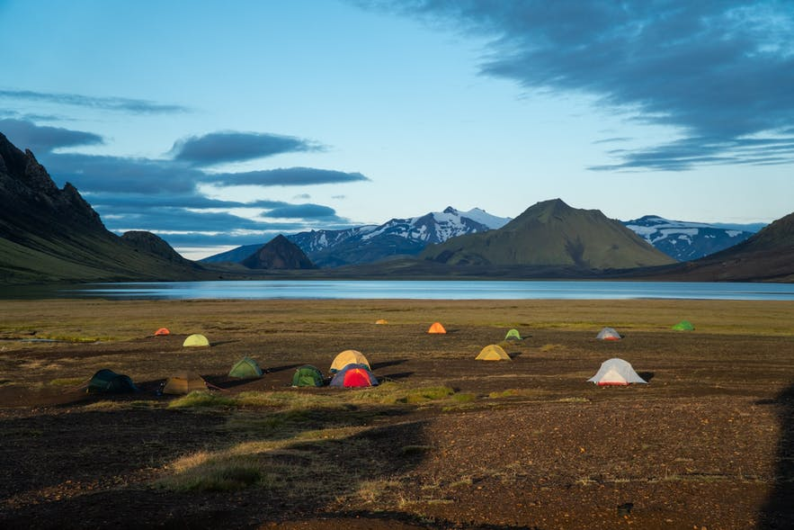 Camping in Iceland is a popular Commerce Day activity.