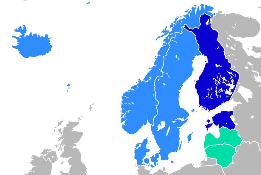 Icelandic settlers came from Scandinavia.