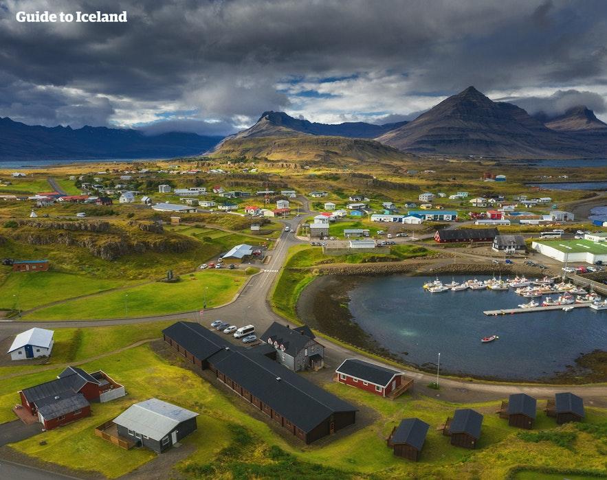 An east Icelandic village.
