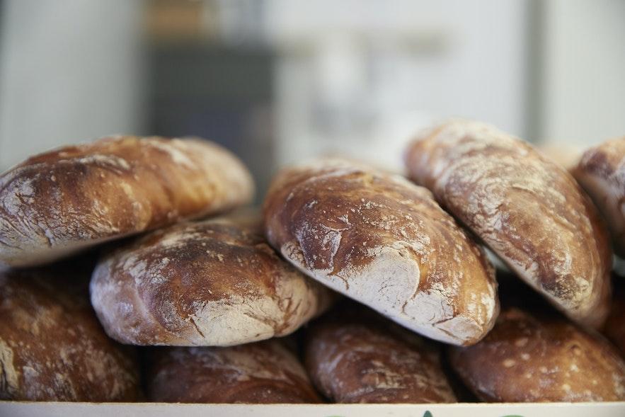 Icelandic bread is freshly baked.