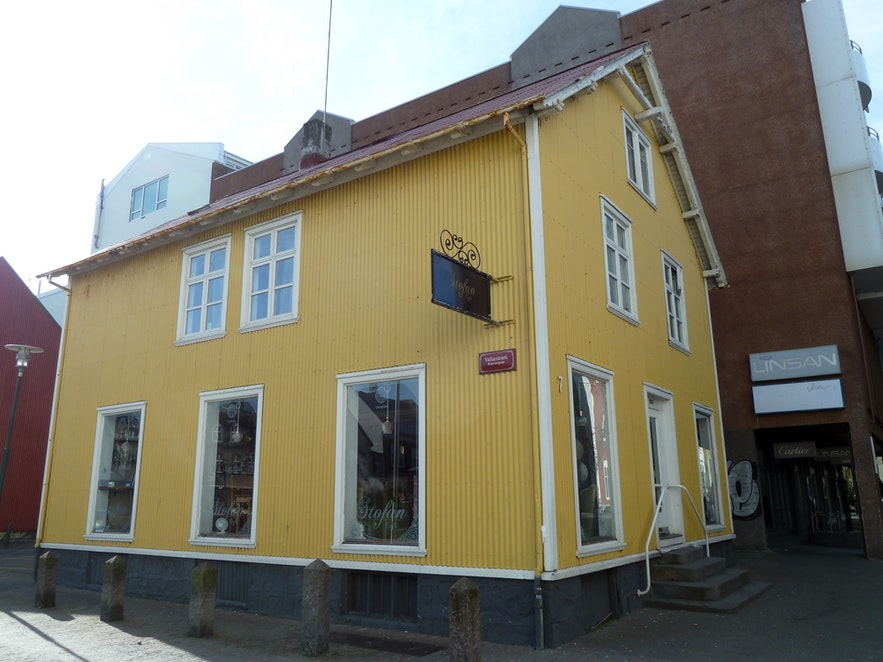 Stofan cafe is a popular place to relax in Reykjavik.