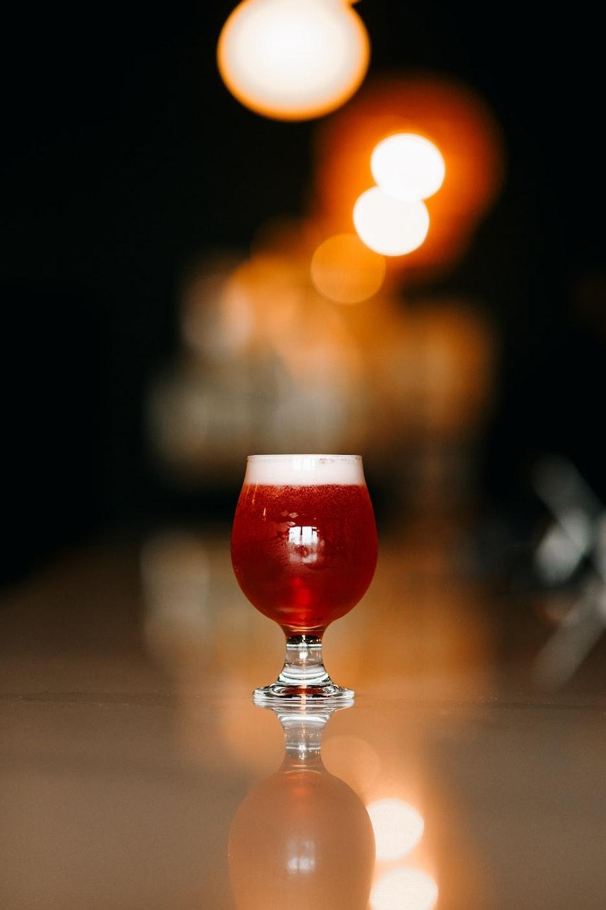 Enjoy a beer at Lebowski's.